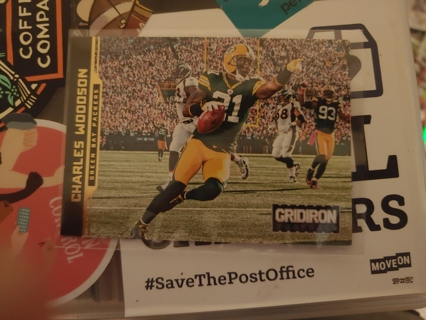 2012 Panini Gridiron Charles Woodson low serial #'d 41 / 100 Green Bay Packers