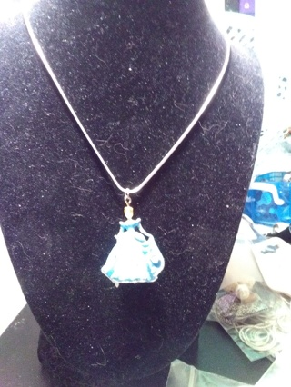 Beautiful Disney Princess Necklace With 9.25 SS Chain