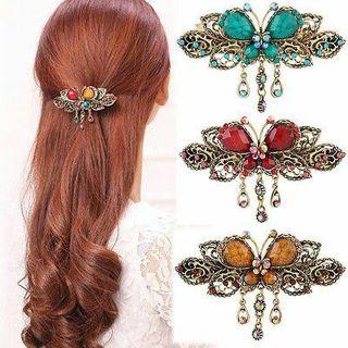 1PCS Women Crystal Rhinestone Butterfly Hair Barrette Clip Hairpin Fashion