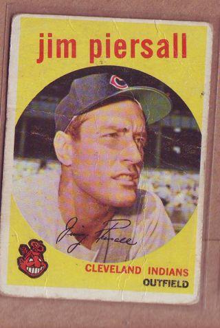 1959 Topps Jim Piersall Baseball card # 355 Indians