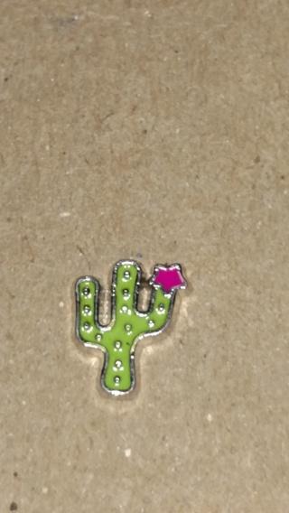 Cactus Living Locket Charm