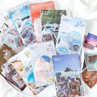40 Pcs/bag vintage memories writable paper sticker DIY scrapbooking diary planner decoration stick