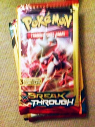 NEW Pokemon XY BREAK THROUGH Booster Pack Pokemon Cards TCG Cards Mewtwo Y Pack Hobbies Collectibles