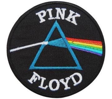 1 band music iron on patch Pink Floyd Dark Side of the Moon Iron on patch jacket Vest embroidered