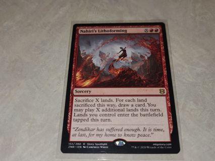 Magic the gathering mtg Nahiris Lithoforming rare card Zendikar