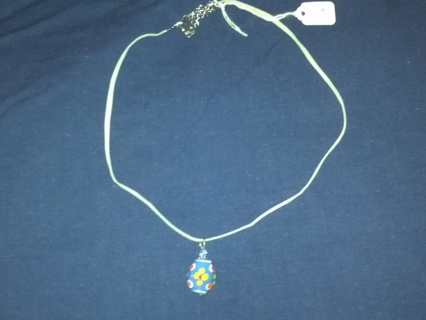 NEW !!!  EASTER EGG NECKLACE