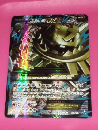 Ultra Rare Mega Steelix EX Full Art Textured Pokemon Card NM-MINT XY Steam Siege