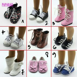 1pair Doll Boots Shoes Fits FOR 18 inch American Girl Doll Shoes With Bow Doll Accessories 9 Colors