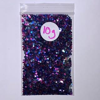 "1 Brand New Packet of ""Unicorn"" Colored Chunky Glitter / Glittermix, 10 Grams."
