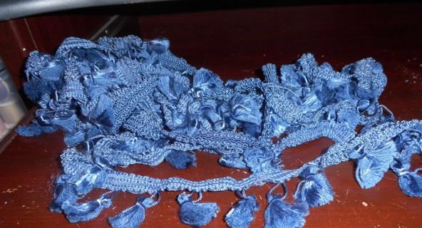 Blue Trim and Fringe