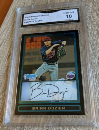 BRIAN DOZIER ROOKIE CARD * BOWMAN CHROME * GRADED GEM MINT 10