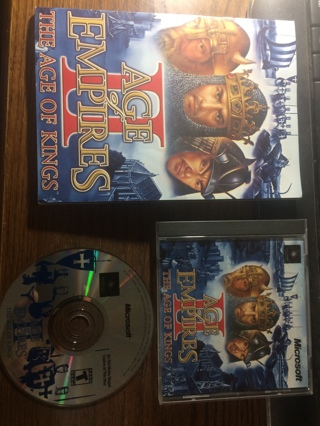 Age Of Empires II 2 -The Age Of Kings PC CD-ROM Microsoft 1999 Windows 95/98/NT4 OBO