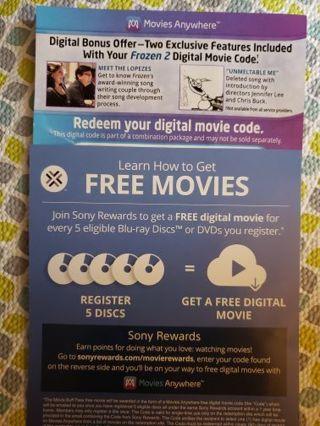 Frozen 2 digital copy