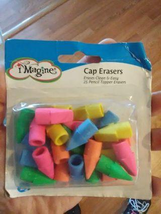 Brand New Pencil Cap Erasers