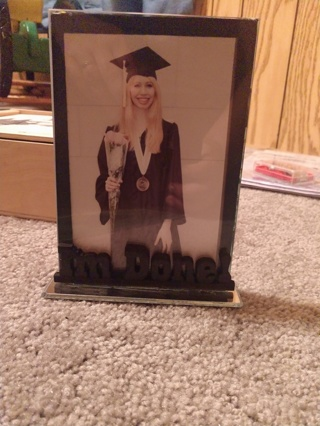 """Graduation """"I'm Done"""" Picture Frame"""