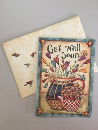 GREETING CARD WITH ENVELOPE GET WELL SOON