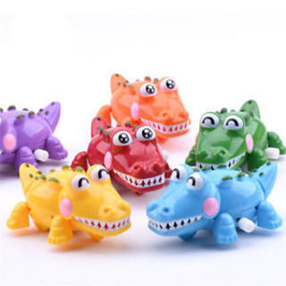 Children Kids Funny Plastic Crocodile Shaped Clockwork Wind Up Party Toys Gifts