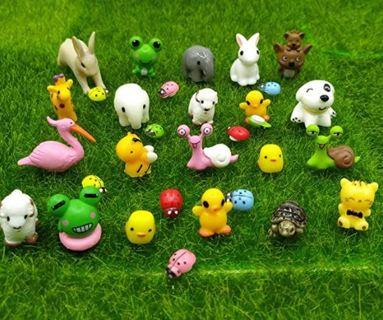 31 Pieces Mini Animals Miniature Ornament Kits,Tiny Animals Figurines,Fairy Garden Accessories