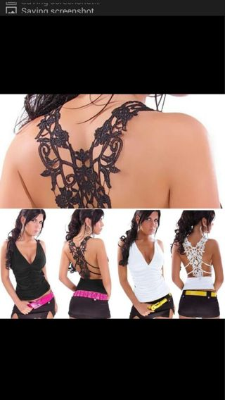 Lace Floral Crochet Women Lady Vest Tank Top T-Shirt Sexy Hollow Out Camisole