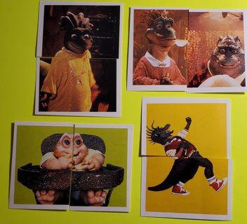 8 DinOsaurs family sticker cards