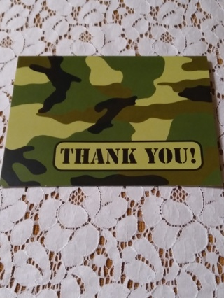 Camouflage Notecards - THANK YOU!
