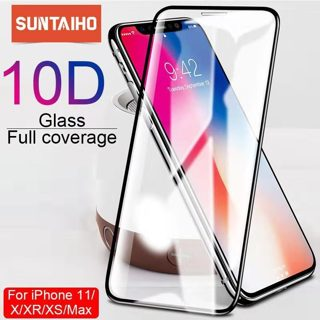 Suntaiho 10D protective glass for iPhone X XS 6 6S 7 8 plus glass screen protector for iPhone 11 Pro