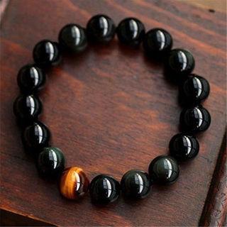 Fashion Unisex Jewelry Agate Tiger Eye Beads Bangle Bracelet