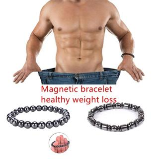 Weight Loss Round Black Stone Bracelet Health Care Bio Magnetic Therapy Bracelet