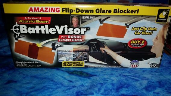 Battle Visor - As Seen on TV- Glare Blocking Visor- NEW - US Seller