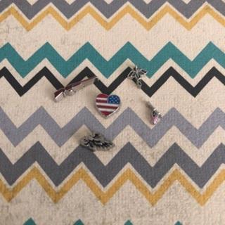Five patriotic floating charms bundle
