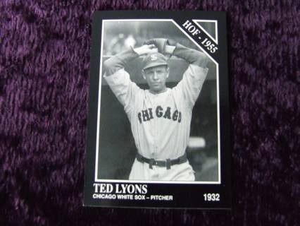 1991 HOFer Ted Lyons Chicago White Sox Legends Conlon Collection Card #19