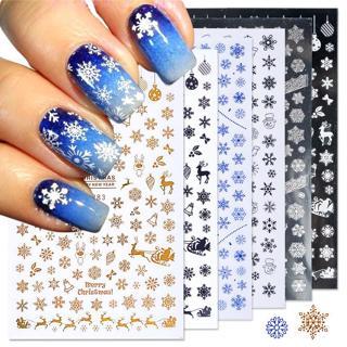 1pcs Christmas Nail Stickers Decals Snow Flakes Xmas Wraps Snowman Winter Nail Art Decorations Man