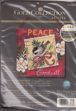 CROSS STITCH: GOLD COLLECTION PETITES; ORNAMENTS (NEW) plus Leaflets (misc.)