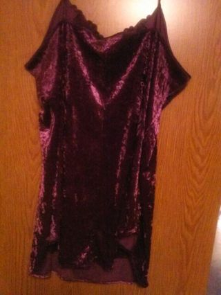 """"""" Sexy Purple Plus Size Night Gown """""""