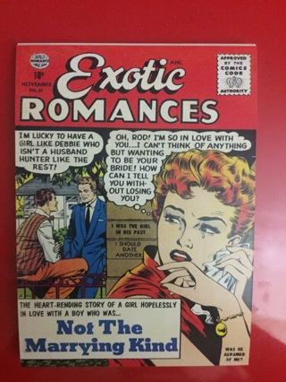 EXOTIC ROMANCE NOVEMBER NO 31 COMIC POSTCARD
