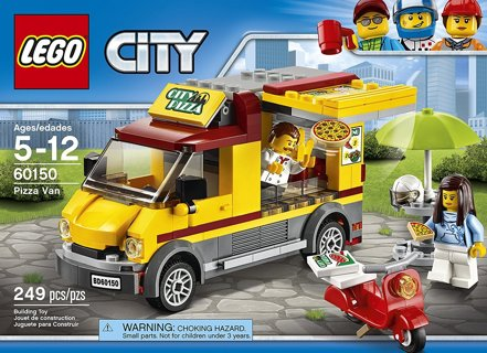 NEW LEGO City Great Vehicles Pizza Van 60150 Construction Toy FREE SHIPPING