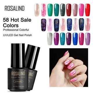 ROSALIND Gel varnish Nail Polish Hybrid Primer Nails Art Extension Semi permanent Luminous Rose UV