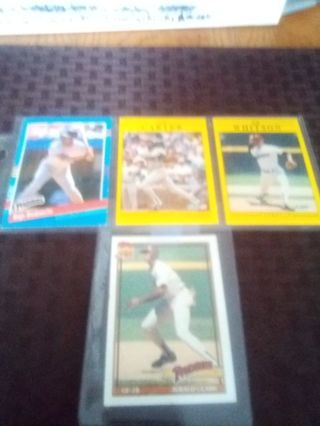 San Diego Padres four card lot