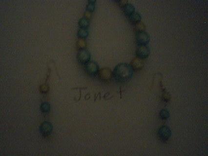 Homemade   Bracelet  and Earrings
