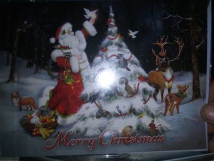 Christmas card new in plastic Selling out all no refunds!