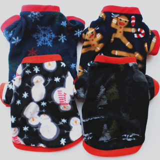 [GIN FOR FREE SHIPPING] Christmas Pet Dog Puppy Jacket Coat Costume Winter Warm