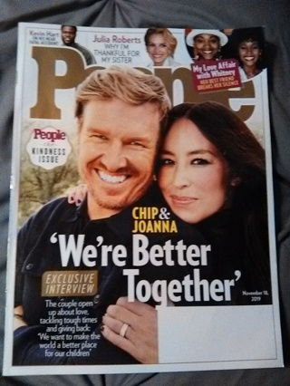 PEOPLE MAGAZINE ISSUE FROM NOVEMBER 18, 2019 -- EXELLENT CONDITION!!