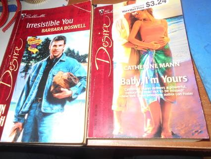 Two Silhouette Desire Paperback Books