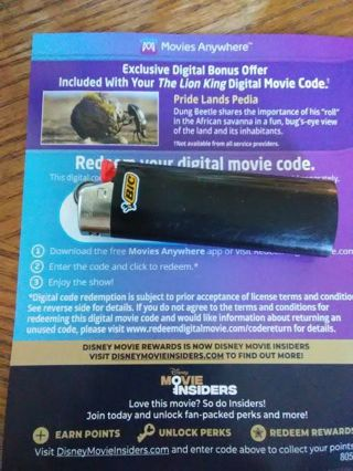 """""""The Lion King"""" movie code"""