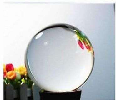 40mm Clear Crystal Sphere w/Stand Healing Crystal Ball