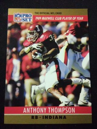 1990 NFL Pro Set Anthony Thompson Football Card #22