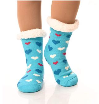 Womens Sherpa Socks Thermal Fleece Lined Fuzzy Gripper Socks Winter Slipper Socks