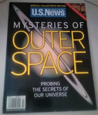 "2003 U.S. News ""Mysteries of Outer Space"" - 88 pages - 7 3/4"" x 10 1/2"" - Excellent condition"