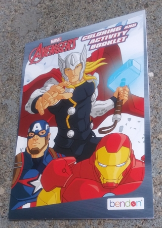 MARVEL AVENGERS COLORING AND ACTIVITY BOOKLET LOT 2
