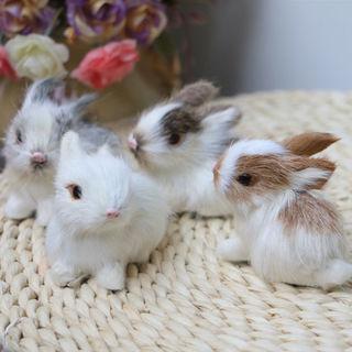 Lovely Soft Simulation Rabbit Animal Doll Plush Stuffed Toy Kids Gift Home Decor